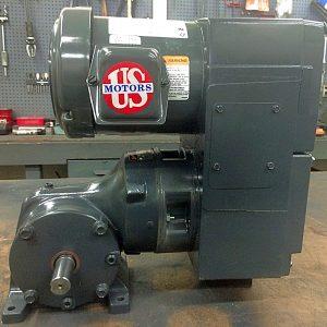 E740-E190-E430, 2HP, 6-145T-6 Frame, 208-230/460V, 3PH, 38-380 RPM, VAM-UTEP-GWP Type, C-Flow Assembly, Premium Efficient