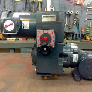 F712-E186-E437, 1HP, 6-143T-6 Frame, 208-230/460V, 3PH, 9.1-91 RPM, VAM-UTEP-GWP Type, Z-Flow Assembly, Premium Efficient