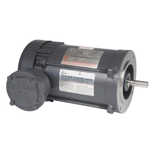 XS12SA2DCR, 1/2HP, 1800 RPM, 208-230/460V, 56C frame, C-face footless, explosion proof, hazardous location