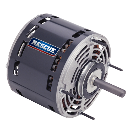 "5469, 5.6"" OAO Rescue permanent split capacitor direct drive fan & blower motor, 1/3HP, 825 RPM, 208-230V, 48Y frame"