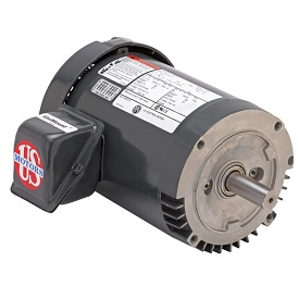 U12P2DCR, 1/2HP, 1800 RPM, 208-230/460V, 56C frame, C-face footless