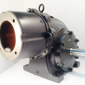 F331-344233-F2 Gearbox with C-face kit for 143TC/145TC motor, 60 ratio, 29 RPM, 2HP max input, F-2