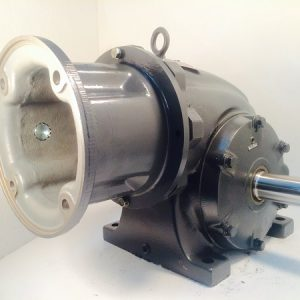 F323-385362-F2 Gearbox with C-face kit for 182TC/184TC motor, 40 ratio, 44 RPM, 3HP max input, F-2