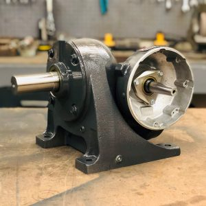 E460 Gearbox, 57 ratio, 30 RPM, 2HP max input, F-1