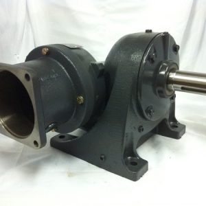G483-344230 Gearbox with C-face kit for 140TC motor, 285 ratio, 6 RPM, .50HP max input, F-2
