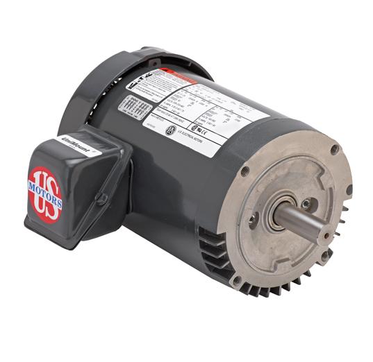 T13S3DCR, 1/3HP, 1200 RPM, 208-230/460V, 56C frame, C-face footless