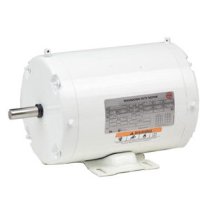 WD2P2A14, 2HP, 1800 RPM, 208-230/460V, 145T frame, washdown duty, TEFC, footed