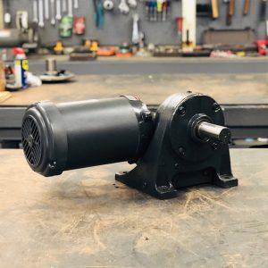 E186PE-G475 Gearmotor, 1HP, 36.6 ratio, 45 RPM, 143T-6, F-2