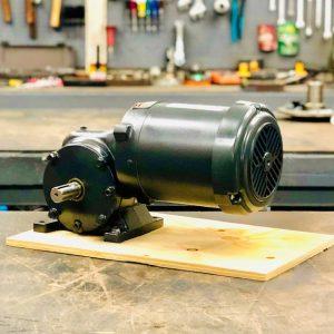 E186PE-E431 Gearmotor, 1HP, 14 ratio, 125 RPM, 143T-6, F-1
