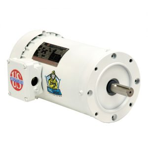 WD1E2A14CR, 1HP, 1800 RPM, 208-230/460V, 143TC frame, washdown duty, C-face footless, TENV