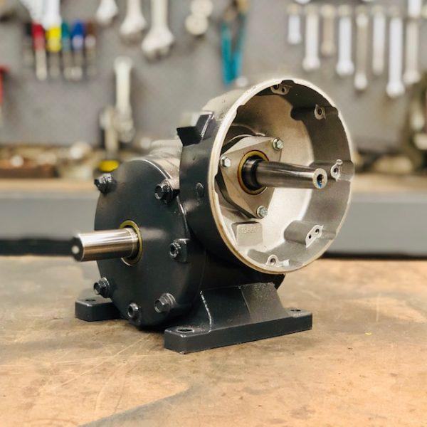 E432 Gearbox, 17.6 ratio, 100 RPM, 1.5HP max input, F-1