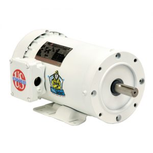 WD1P2AC, 1HP, 1800 RPM, 208-230/460V, 56C frame, washdown duty, C-face footed, TEFC